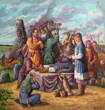 Отряд похорон в древней Булгарии