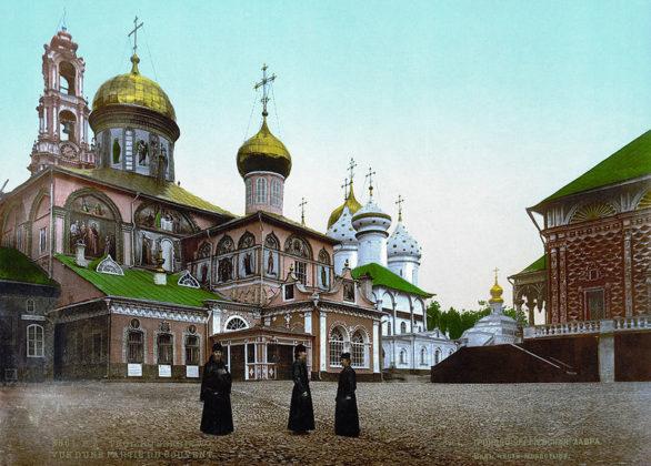 Троицкий собор Троице – Сергиевой лавры. Фотография. 1890 г.